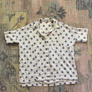 Madewell XS Button Down Paisley Courier Shirt